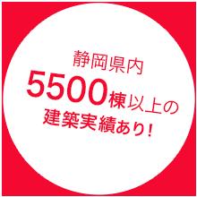 静岡県内3500棟以上の建築実績あり!
