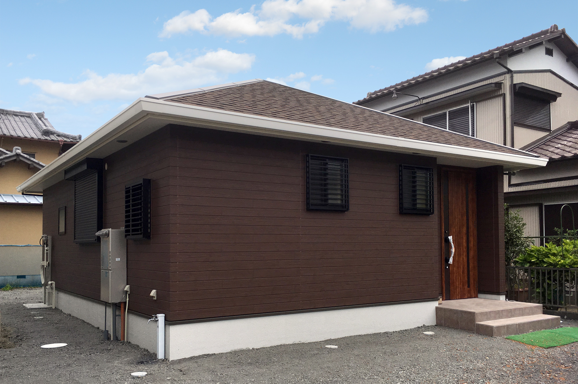 一人暮らしのための1LDK平屋住宅
